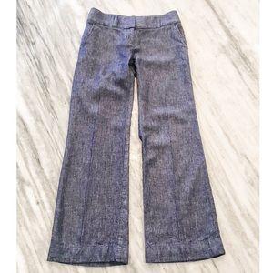 {Loft} Chambray Trouser Leg Pants in Marisa Fit